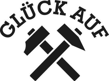 Good luck miners saying - german