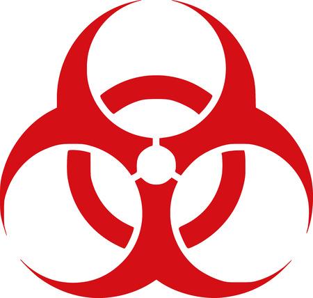 riesgo biologico: Biohazard rojo - peligro