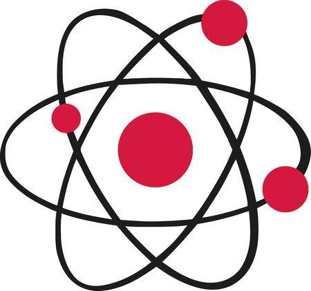 neutron: Atom icon with red atoms