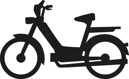 moped: Scooter moped Illustration