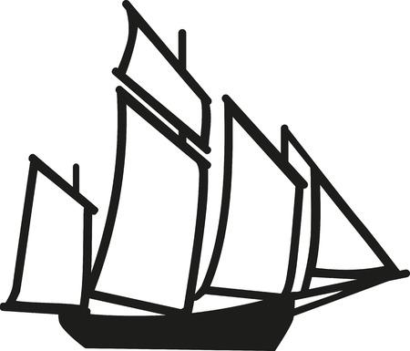 big boat: Big Sailing boat Illustration
