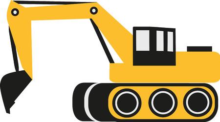 power shovel: Excavator Illustration