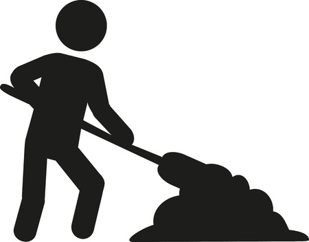workman: Workman with shovel Illustration