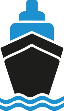 Cruise ship symbol