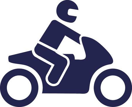 Motorbike icoon Vector Illustratie