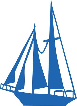 sails: Sailboat with four sails