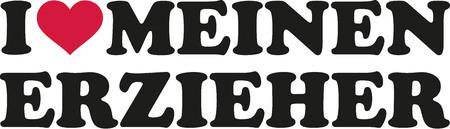 creche: Amo a mi educador - alemán
