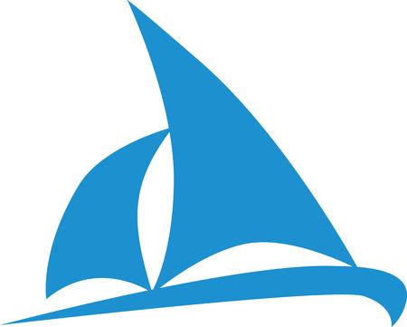 Icono del barco de vela Ilustración de vector