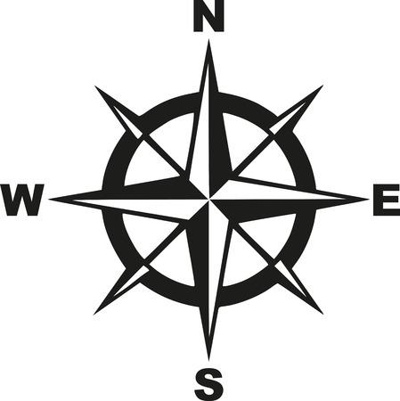 Compás con el noroeste al sudeste Foto de archivo - 58894279