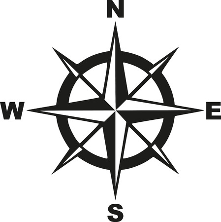 Compass with north south east west