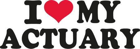 actuary: I love my actuary Illustration