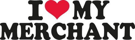 merchant: I love my merchant Illustration