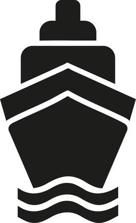 Kreuzfahrtschiff-Symbol Vektorgrafik