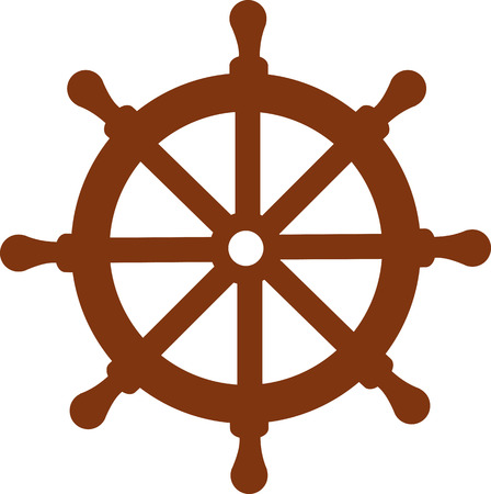 Schiff Lenkrad