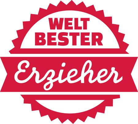 guarder�a: mejor educador del mundo - alem�n Vectores