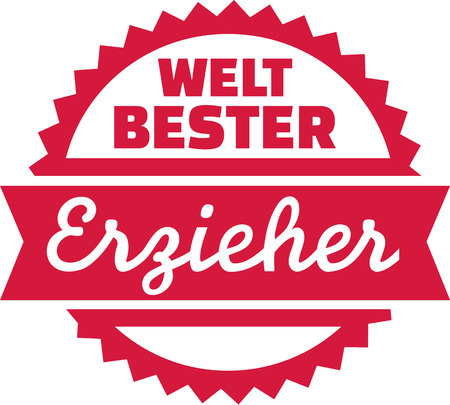 creche: Worlds best educator - german Illustration