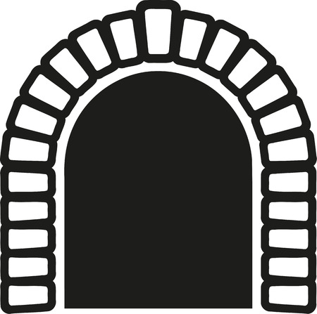 tunnel: Tunnel with stone border Illustration