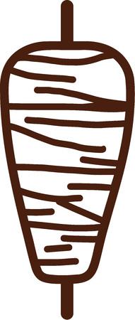 Kebab skewer icon