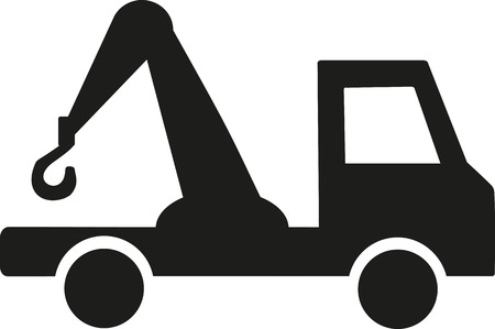 towing: Towing car icon