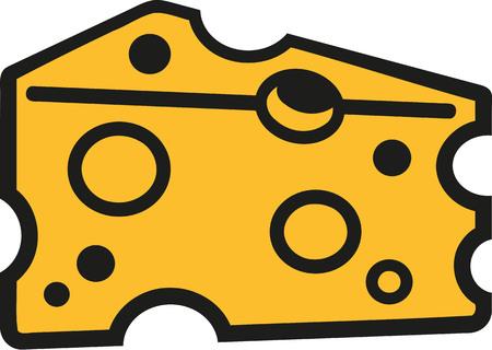 cheese cartoon: Slice of cheese cartoon style