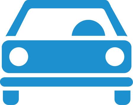 frontview: Car lightblue frontview