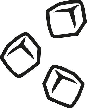 Los cubos de hielo esquema