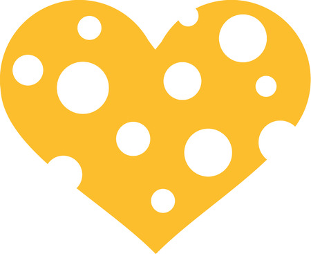 wholes: Cheese heart with wholes