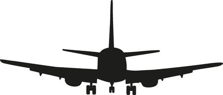 frontview: Frontview of a airplane