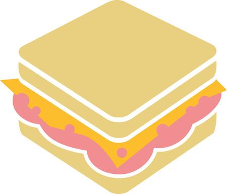 ham sandwich: Sandwich with cheese and ham