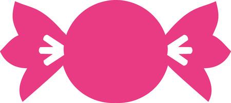 bonbon: Candy sweets pink bonbon Illustration