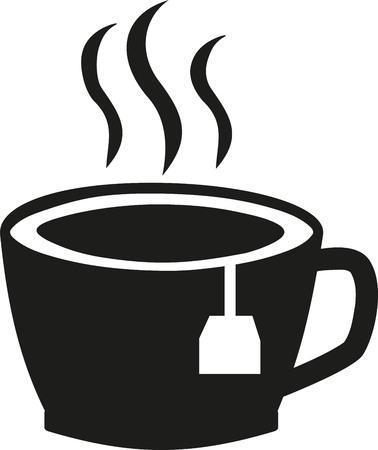 tea bag: Cup of hot Tea with tea bag