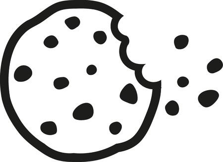 撮影一口のチョコレート チップ クッキー  イラスト・ベクター素材