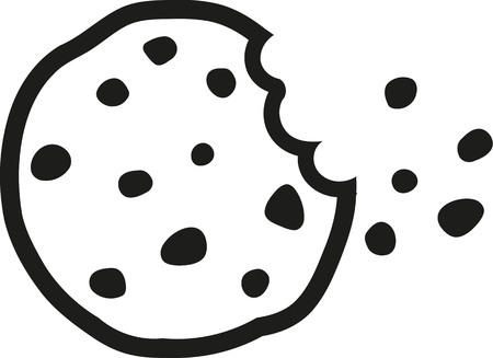 Chocolate chip cookie a bite taken Vettoriali