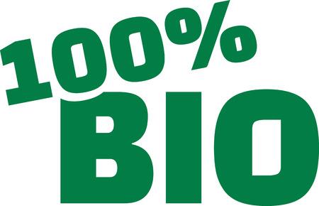 100 percent bio Illusztráció