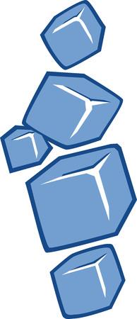 refrigerate: Ice cubes icon Illustration