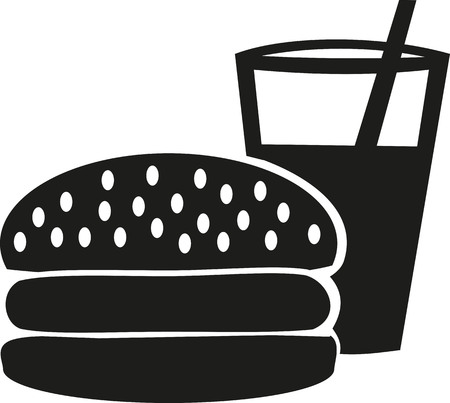 softdrink: Burger mit Drink icon
