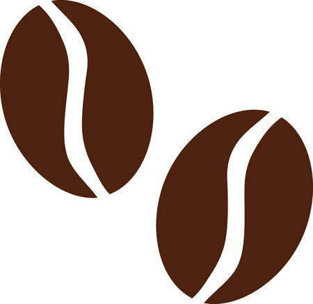 coffee beans: Two Coffee beans Illustration