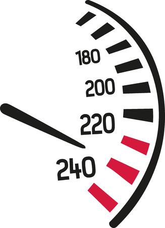dashboard: Speedo racing dashboard Illustration