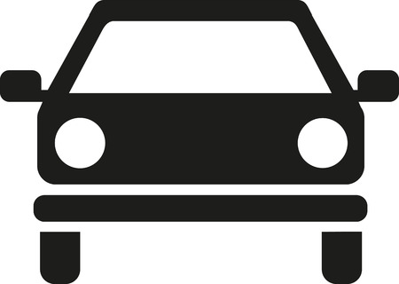 frontview: Car icon frontview Illustration
