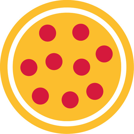 salami: Pizza icon with cheese and salami