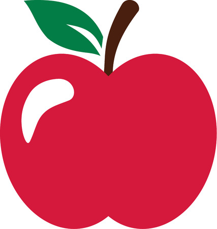 ripe: Red perfect ripe apple Illustration