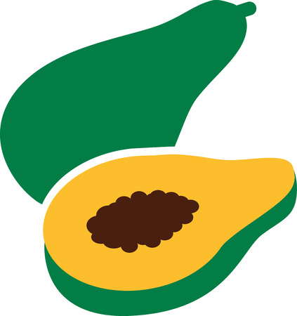 papaya: Papaya icon Illustration