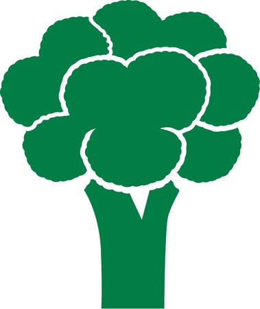 broccoli: Broccoli pictogram Illustration