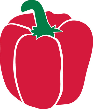 Red pepper Ilustracja