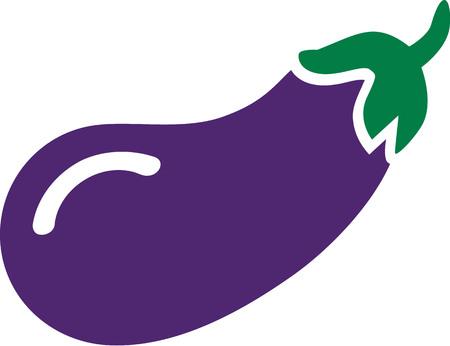 aubergine: Aubergine icon Illustration