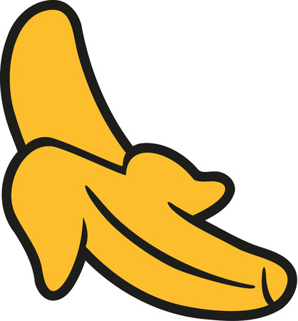 banana peel: Banana with opened banana peel
