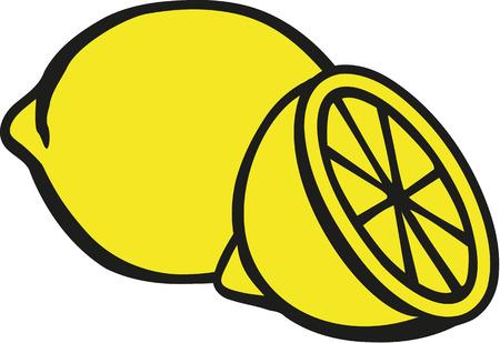 레몬 슬라이스 레몬