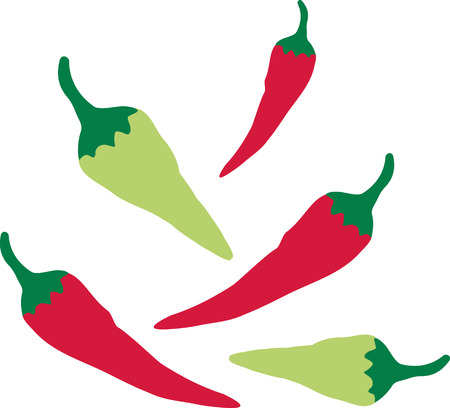 cayenne: Red and green chilli peppers