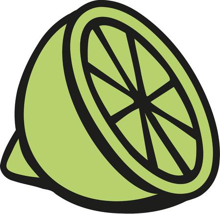 얇게 썬 라임 스톡 콘텐츠 - 60011178