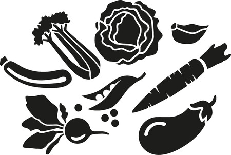 veggies: Vegetable set - basic veggies